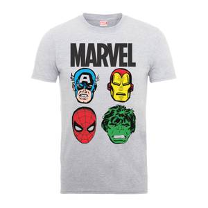 T-Shirt Homme Personnages Principaux - Marvel Comics - Gris