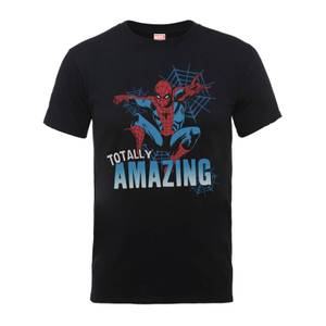 Marvel Comics Spider-Man Totally Amazing Men's Black T-Shirt