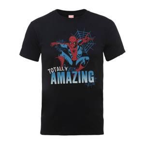 T-Shirt Homme Totally Amazing - Spider Man - Marvel Comics - Noir
