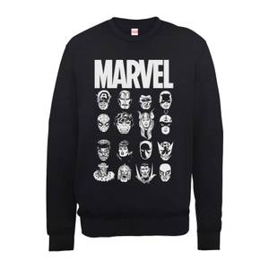 Sweat Homme Têtes Multiples - Marvel - Noir