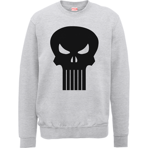 Sweat Homme Skull Badge - The Punisher Marvel - Gris