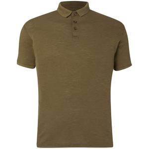 D-Struct Men's Slub Polo Shirt - Khaki
