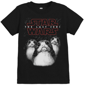 Star Wars The Last Jedi Porgs Kid's Black T-Shirt