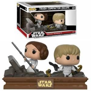 Star Wars Movie Moments Luke & Leia Trash Compactor Escape EXC Pop! Vinyl Figur 2er Pack