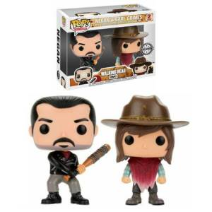 The Walking Dead Negan & Carl EXC 2-Pack Figura Pop! Vinyls