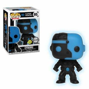 Justice League Cyborg Silhouette EXC Pop! Vinyl Figur GITD