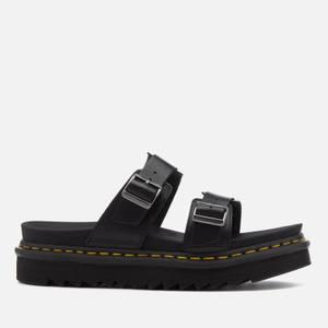 Dr. Martens Myles Brando Leather Double Strap Sandals – Black