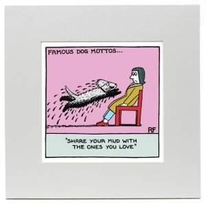 Affiche Imprimée Chien Share Your Mud - Off the Leash