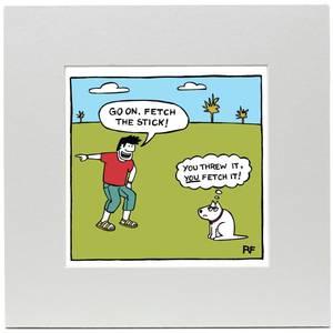 Affiche Imprimée Chien Va Chercher ! - Off the Leash