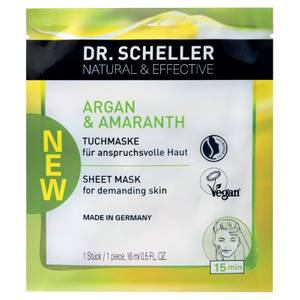 DR. SCHELLER Natural & Effective Argan & Amaranth Tuchmaske