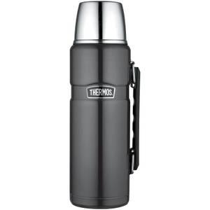 Thermos Stainless King Flask - Gun Metal 1.2L