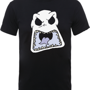 The Nightmare Before Christmas Jack Skellington Angry Face Schwarz T-Shirt