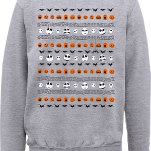 The Nightmare Before Christmas Jack Pumpkin Faces Grau Pullover
