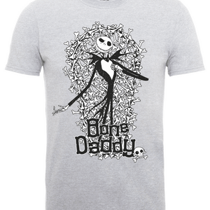 The Nightmare Before Christmas Jack Skellington Bone Daddy Grau T-Shirt
