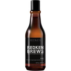Redken Brews Shampoo, Conditioner and Body Wash 300ml