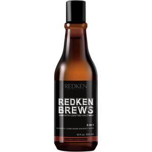 Redken Brews Shampoo, Conditioner and Body Wash szampon, odżywka i płyn do mycia ciała 300 ml