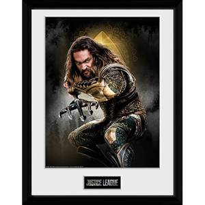 Justice League Aquaman Solo Framed Photograph 12 x 16 Inch