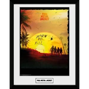 Full Metal Jacket Born To Kill Framed Photograph 12 x 16 Inch