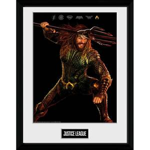 Justice League Movie Aquaman Framed Photograph 12 x 16 Inch