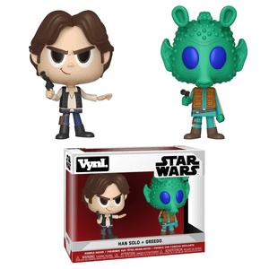 Star Wars Han Solo and Greedo Funko Vynl.