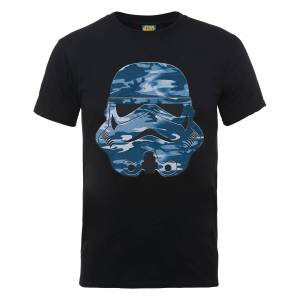 Star Wars Stormtrooper Blue Camo T-Shirt - Black