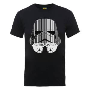 T-Shirt Homme Code Barre Stormtrooper - Star Wars - Noir