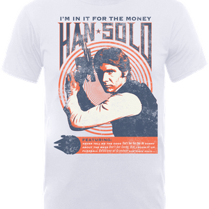 Star Wars Han Solo Retro Poster T-Shirt - Weiß