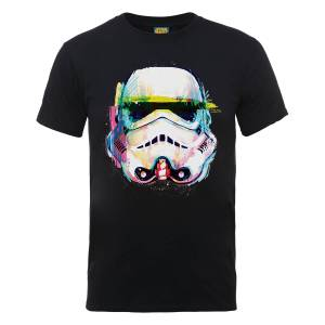 Star Wars Stormtrooper Paintbrush Art T-Shirt - Black