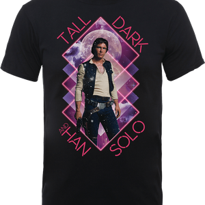 T-Shirt Star Wars Han Solo Tall Dark- Nero