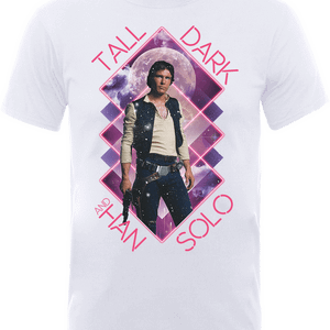 T-Shirt Star Wars Han Solo Tall Dark- Bianco