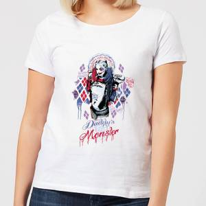 T-Shirt Femme Daddy's Lil Monster Harley Quinn - Suicide Squad (DC Comics) - Blanc