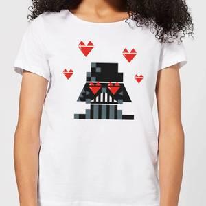 Star Wars Valentine's Vader In Love Women's T-Shirt - White