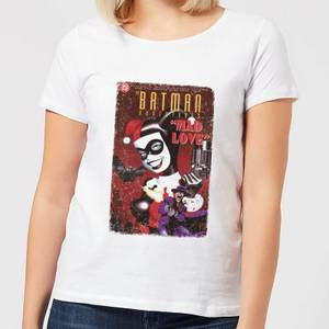 T-Shirt Femme Suicide Squad Harley Quinn Mad Love (DC Comics) - Blanc