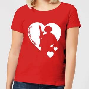 Star Wars Leia I'd Rather Kiss A Wookie Women's T-Shirt - Red