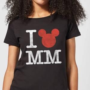 T-Shirt Femme I Heart MM Mickey Mouse (Disney) - Noir