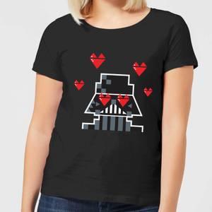 Star Wars Valentine's Vader In Love Women's T-Shirt - Black