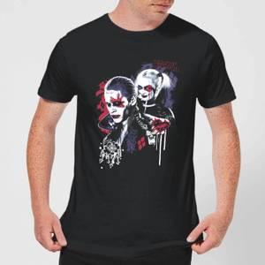 T-Shirt Homme Harley Quinn et le Joker (DC Comics) - Noir