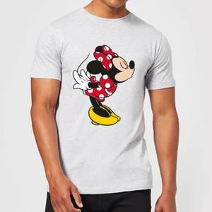 Disney Mickey Mouse Minnie Split Kiss T-Shirt - Grey