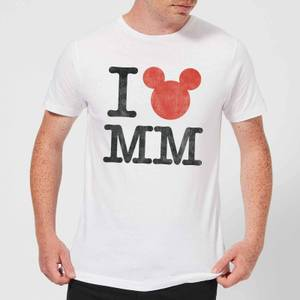 Disney Mickey Mouse I Heart MM T-Shirt - White