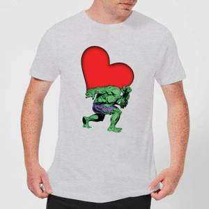 Marvel Comics Hulk Heart T-Shirt - Grey