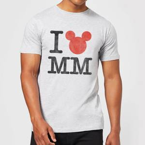 T-Shirt Homme I Heart MM Mickey Mouse (Disney) - Gris