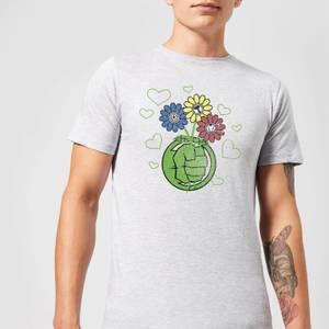 Marvel Avengers Hulk Flower Fist T-Shirt - Grey