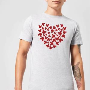 T-Shirt Homme Homme Cœur Mickey Mouse (Disney) - Gris