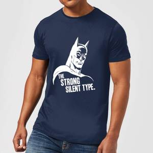 DC Comics Batman The Strong Silent Type T-Shirt in Navy