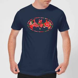 DC Comics Floral Batman Logo T-Shirt - Navy