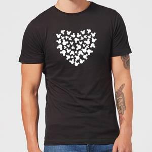 T-Shirt Homme Cœur Mickey Mouse (Disney) - Noir