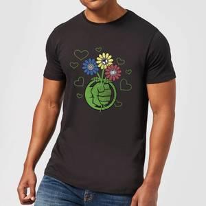 T-Shirt Homme Avengers Hulk Fleurs (Marvel) - Noir