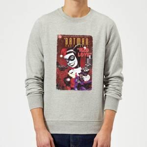 DC Comics Batman Harley Mad Love Sweatshirt in Grey