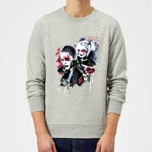 DC Comics Suicide Squad Harleys Puddin Sweatshirt - Grey