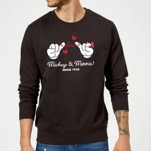 Disney Mickey Mouse Love Hands Sweatshirt - Black